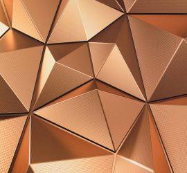 fotostena s 3D efektom zlatá